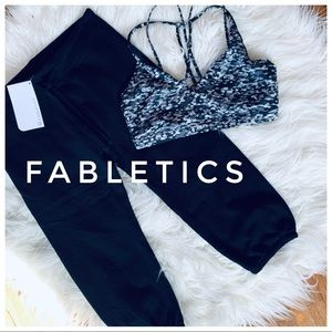 NWT FABLETICS crop French terry sweatpants